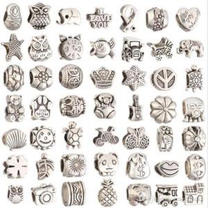 Perles pour la fabrication de bijoux en vrac Big Hole bricolage Artisanat Bijoux en gros Faire Charms Bracelet