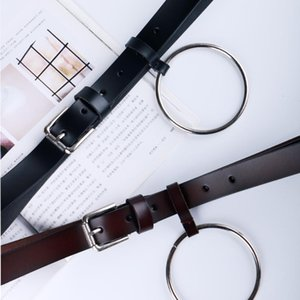 Women's Big Ring Decorated Belts Female Fashion Genuine Leather Decoration Lovely Newest Design Women Waist Beltjavascript: