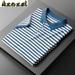 Azazel Knitted Mens T-shirts High Quality Short Sleeve Stripe Casual Male T-shirts Fashion Slim Fit Summer Man 3XL