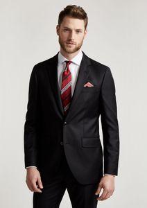 bepoke mens suit for groom tuxedo business suits 2020 custom made formal wear wool bleed black tuxedos