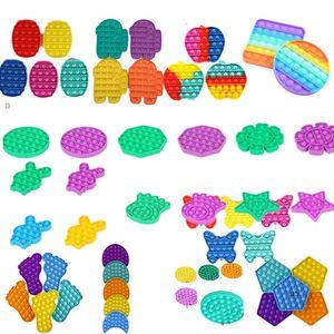 2021 push pops пузырь сенсорный игрушка смешной поп пузырь popper головоломки fidget игрушки против стресса Сжигательная игрушка детские душистые стресс reviever подарки все формы сток h12101