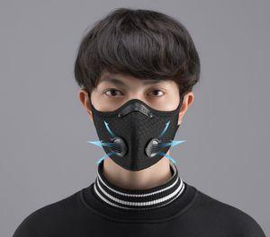 Nueva CICLISMO Ciclismo Ajustable Cara entrenamiento deportivo máscara PM2.5 anticontaminación Máscara Correr Filtro de carbón activado Máscara lavable