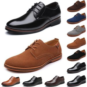2020 luxury men casual shoes black loafers Outdoor simple fashion leather Matte suede Business mens trainers sneakers size 40-47