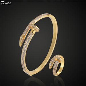 Donia Ювелирные изделия Партия Европейская и американская мода Nail Titanium Steel Bracte Ring Set Designer Bracte Ring Set