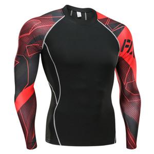 men's clothing compression men t-shirt + leggings rashgard kit long sleeves top for fitness man tracksuit thermal underwear base 201008