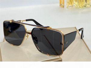 New luxury designer sunglasses men brand sunglasses SOULINER series style square half frame UV protection 400 lens outdoor eyewear 136
