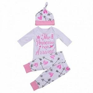 US Neugeborene Kleinkind-Baby-Kleidung Liebesbrief gedruckt Spielanzug-Overall + Pants Ballon- Bat + Bow Tie Stirnband Outfits Set 0-24M amjs #