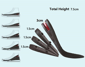 3-7.5cm Height Increase Insole With Air Cushion Height Lift Adjustable Cut Shoe Heel Insert Taller Support Absorbant Foot Pad