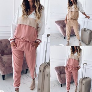 Laamei Women's Casual Tracksuit Two Piece Set Ladies Sportswear Hoodie And Sweatpants Spring Autumn Jogger Set Ropa Mujer 201008