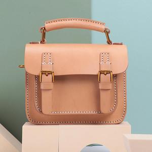 Bolso de mujer de cuero genuino de Johnature Cambridge Luxury Handbag 2021 New Fashion First Layer Cowhide Handmade Bolsas Hombreras