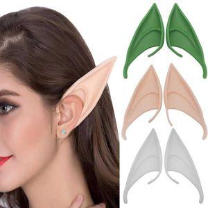 Estrangeiro Anjo Prosthetic Cosplay Ears Elf Spock Mysterious Anime Halloween Máscara Acessórios Novo Partido Latex Elf Ears Fada estrangeiro Anjo Pr Dsrj