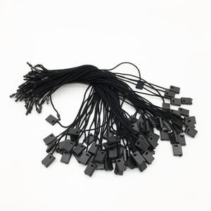 شنق سلسلة سلسلة hangtag سلسلة الجملة 250 قطع الأسود شامل شنق علامة تذكرة ختم العلامة قفل سلسلة البلاستيك للملابس