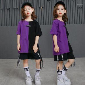 Enfants Loge Ballroom Jazz Hip Hop Dance Porter Costumes Costumes T-shirt Tops Pantalons Girl Garçons Vêtements Tenues Danse Costudes 1