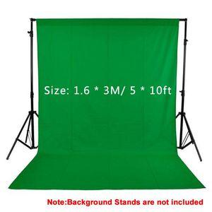 1.6x3M / 5x10FT Studio Fotografie Kulissen Black White Green Screen Foto Background 100% Non-Woven für Studio Vedio Shooting