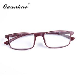 Guanhao verre en résine Tr90 cadre de lecture Homme Femmes flexible Confortable hypermétropie Lunettes presbytie Lunettes de nez Tapis