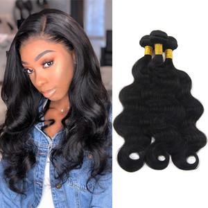 Nami cheveux brésiliens cheveux droites tisse une vague de corps une onde profonde 3 paquets 100% des extensions de cheveux humains couleur naturelle