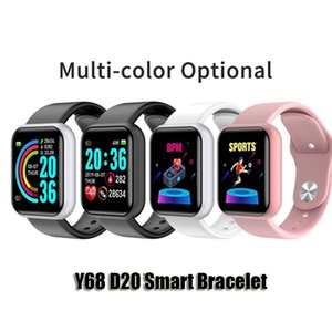 Y68 D20 SmartWatch 피트니스 팔찌 혈압 심박수 모니터 보수계 Cardio Bracelets Bluetooth 스마트 시계 Android 용