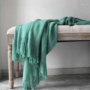 Cashmery Manta Super Soft Winter Bedding Lecho de cama Caliente suave Edredón Algodón Crochet Sofá Sofá Cubierta Mantas Koc Cobertor Supplies1