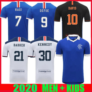 2020 2021 Football Rangers fc rétro Glasgow Maillots 20 21 DEFOE HAGI MORELOS TAVERNIER 150e anniversaire de football dessus de chemises Maillot GERRARD