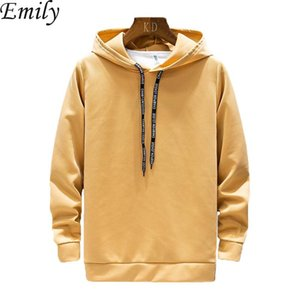 New 2020 Spring Men's Hooded Sweatshirt Teenager Hip Hop Hoodies Comfortable Casual Long Sleeve Solid Pullover Sports Tops