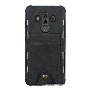 Buckle-Gewebe-Mappen-Telefon-Beutel-Kasten für Huawei Mate-10 Lite Pro-Fall-Abdeckung für Huawei P20 Pro Lite Nova 2i Honor 9i