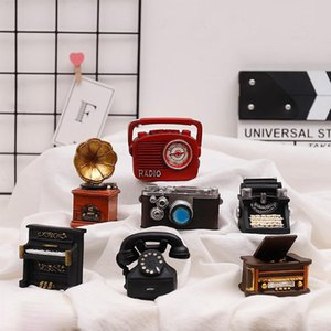 Retro Resin Desktop Mini Ornaments Creative Home Model Decorative Piano Phonograph Home Accessories Desk Decoration