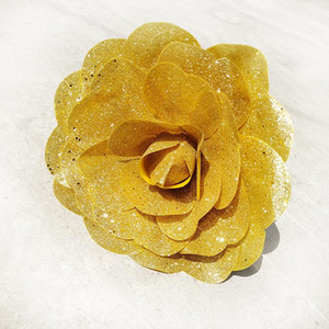 NEW Bright Large Foam Flower Artificial Brilliant Glitter Christmas Flowers for The Wedding Stage Background Decoration
