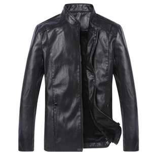 MRMT 2020 Brand Men's Jacket Spring Outerwear New Men's PU Leather Leather Jacket