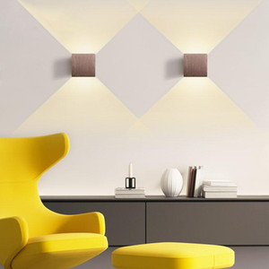 LED Wall Lamp Aluminium LED Wall Light Aisle Stair Decorate Lighting Fixture Bedroom Bedside Lamp AC110V 220V indoor Light