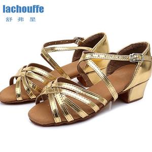 Латина площади каблук 3.5cm танцевальная обувь красный / золото Мягкой Подошва Танцы обувь Женщина Девушка Latino / Ballroom