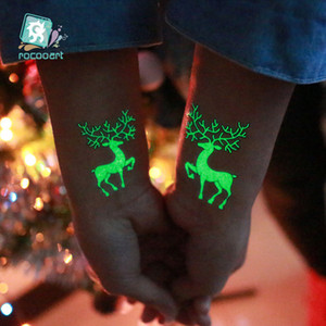 New Design Party Decoration Luminous Temporary Tattoo Stickers Christmas Carnival Party New Year Decor Christmas Decorations