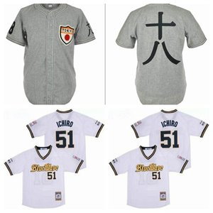 1936 Tokyo Kyojin Giants 51 Ichiro Suzuki Baseball Jersey Orix Blue Wave Pullover Cool Base Team Grey White Color Stitched Good Quality