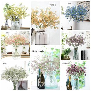 Colorfull Artificial Gypsophila Soft Silicone Real Touch Flowers Artificial Gypsophila for Wedding Home Party Festive Decoration BWF2431