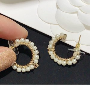 Fashion Earrings Beaded Pearl Earrings for Woman High Quality 925 Silver Needle Earrings Personality Charm Jewelry Supply