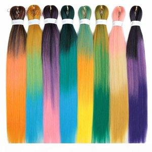 """Tressages Jumbo Easy Hair Haute Qualité Crochet Pre Streprié Tressage Cheveux Noir Marley Synthétique Extension 26 """"Ombre Kanekalon Cheveux"""
