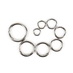 NEUE 2 STÜCKE Multi-Size-O-Ring-Schnallen Runder Push-Gate-Schnapphaken Frühlingsring Schlüssel Carabiner Snap Schlüsselanhänger Campin BBYYOS
