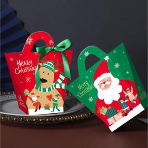 Boîtes cadeaux de Noël Eve Port Cadeau Emballage Bog Santa Clause Papier Xams Decora Fournitures Boîtes de rangement GWC3198