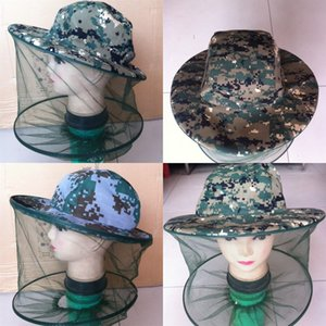 Capeking Cap Outdoors Mosquito Control Jungle Hat Go Fishing Sunscreen Camouflage Шаль Caps Factory Direct Reading 3 8Sha P1