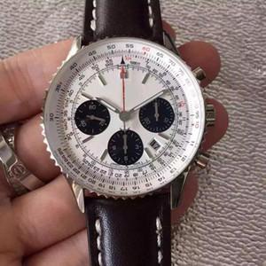 Новый роскошный Человек breitling B01 часы 43мм кожа стальной ленты кварц механическое движение полный Navitimer работая часы дизайнер наручные часы ol8N #