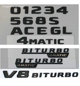 Black Trunk Letters Number Badge Emblems for Mercedes Benz A C E G S SL GLS GLE CLS CLA Class AMG 4MATIC 2017 2018 2019 2020