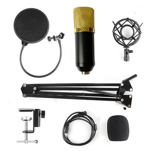Condenser Microphone Kit Studio Boom Suspension For Computer Audio Voice Recording Studio Mic with Microphone Adjustable Stand1