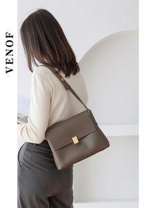 Shoulder Bags VENOF 2021 Fashion Women Bag Leather Vintage Female Satchel Ladies Messenger Luxury Crossbody For