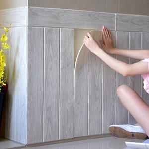 3D Wallpaper Self Adhesive Wood Grain Wall Sticker Soft Package Kindergarten Walls Decoration Waterproof Foam Wall Sticker