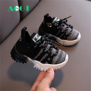 AOGT Automne Bébé Bébé Enfant Toddler Fashion Respirant Ticking Walkers Chaussures Doux Sneakers Enfant confortable Y201028
