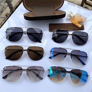0620 جديد مصمم الأزياء النظارات المعدنية إطار مربع أعلى جودة النظارات نمط شعبية الأكثر مبيعا uv400 نظارات حماية مع القضية