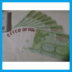 Simulación de la moneda de juguete Euro Shooting Shooting Props Dollar Pretty Banknos Bar Game Tokens 200 Piezas 23