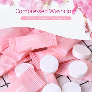 1 package(10PCS) white Face Disposable Washcloth Compressed Mini Portable Cotton Travel towel