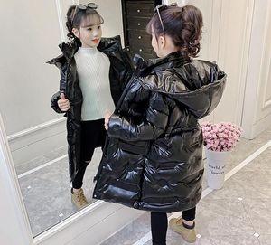 2021 Девушки зимняя одежда Новая джемашка для джейсного хлопка, большая детская мягкая, толстая и длинная мягкая куртка с капюшоном