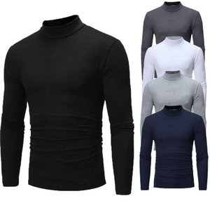 Brand New Uomo Gotico Turtelneck Maglione Pullover manica lunga Stretch Slim maglione di base dolcevita Maschio camicetta Primavera Abbigliamento