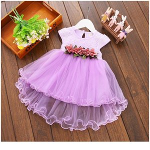 6m-3y Infant Kids Baby Girl Clothes Summer Floral Tulle Sleeveless Cotton Princess Party Wedding Holiday Dresses For B jllOTh